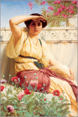 Wandsticker  Ein Stelldichein - John William Godward