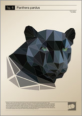 Wandaufkleber  fig6 Polygonpanther Poster - Labelizer