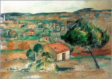 Wandsticker  Hügel in der Provence - Paul Cézanne