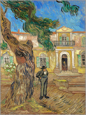 Gallery Print  St. Paul Hospital in Saint Rémy de Provence - Vincent van Gogh