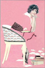 Gallery Print  rosa Bücher - Clarence Coles Phillips