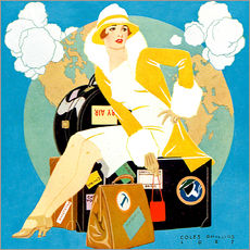 Gallery Print  Reisen Lady - Life-Magazin 1927 - Clarence Coles Phillips