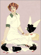 Gallery Print  Frau mit Tauben - Clarence Coles Phillips