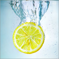 Wandaufkleber  lemon splash - Silvio Schoisswohl