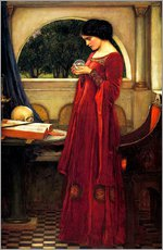 Wandsticker  Die Kristallkugel - John William Waterhouse