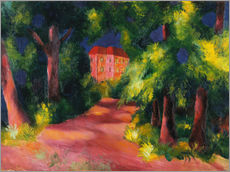 Gallery Print  Rotes Haus am Park - August Macke
