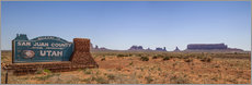 Wandsticker Monument Valley USA Panorama III