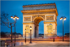 Gallery Print  Arc de Triomphe in Paris - Jan Christopher Becke