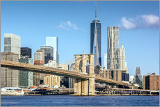 Wandsticker  New York: Brooklyn Bridge und World Trade Center - Sascha Kilmer