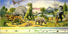 Wandsticker  Land of the dinosaurs - Paul Simmons