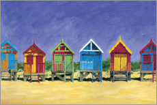 Gallery Print  Beach huts - Brian James