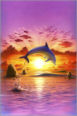 Gallery Print  Day of the dolphin - sunset - Robin Koni