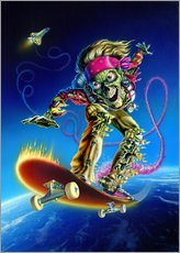 Wandsticker  Skateboarder - Extreme Zombies