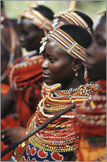 Gallery Print  Samburu-Mädchen - Adam Jones