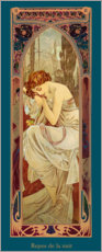 Plakat  Times of the Day - Night's Rest - Alfons Mucha