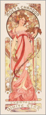 Wandaufkleber  Moet & Chandon, White Star, rose - Alfons Mucha
