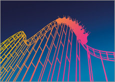 Wandsticker  rollercoaster - David Fairfield