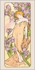 Wandsticker  The Flowers - Lovely Iris - Alfons Mucha