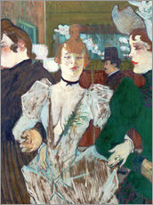 Wandsticker  la Goulue at the Cabaret - Henri de Toulouse-Lautrec