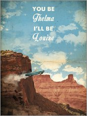 alternative thelma and louise retro film art