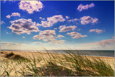 Blue sky with clouds on Texel