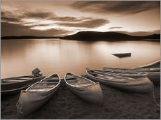 Boote am Elkwater Lake