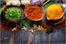 Colorful spices diversity