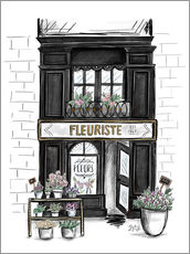 French Shop Front - Fleuriste