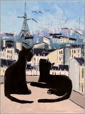 Cats and doves over Paris