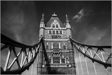 London Tower Bridge monochrome