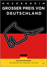 My F1 Germany Race Track Minimal Poster