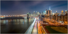 New York - Manhattan Skyline bei Nacht