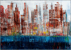 New York Skyline, abstrakt