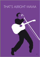 No021 MY ELVIS Minimal Music poster