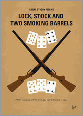 No441 My Lock Stock and Two Smoking Barrels minimal movie poster
