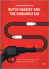 No585 My Butch Cassidy and the Sundance Kid minimal movie poster