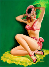 Pin Up with Hat