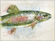 Splashing Rainbow Trout