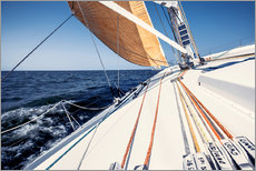 Sailing yacht at full speed