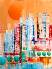 Skyline New York, abstrakt