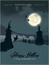 Sleepy hollow heads will roll movie inspired illustration