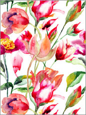 Sommerblüten in Aquarell