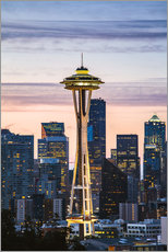 Space Needle bei Sonnenaufgang, Seattle