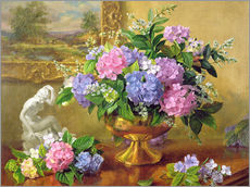 Still Life with hydrangeas and lilacs