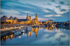 Old Town Dresden at night