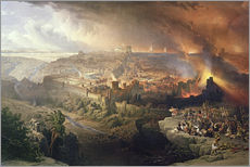 The Destruction of Jerusalem in 70 AD, engraved by Louis Haghe