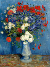 Vase with Cornflowers and Poppies
