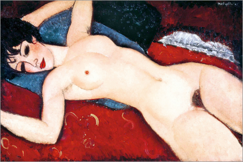 Amedeo Modigliani - Akt, schlafend