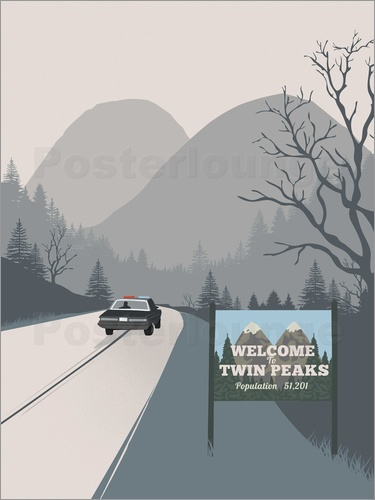 Poster Alternative welcome to twin peaks art