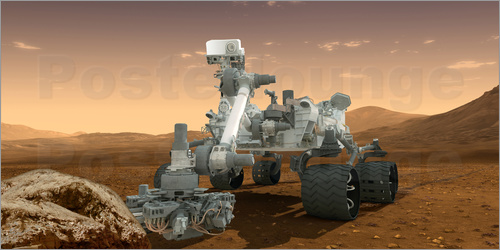 Artist's concept of NASA's Mars Science Laboratory Curiosity rover.